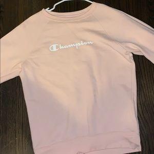 Champion sweatshirt orange-pink color size S